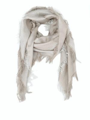 Paolo Fiorillo: sciarpe e foulard - Sciarpa luccicante in misto lana e seta