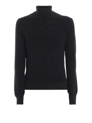 Paolo Fiorillo: maglia a collo alto e polo - Dolcevita in pura lana a maglia inglese