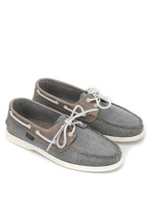 Paraboot: lace-ups shoes online - Barth/Marine canvas nubuck shoes