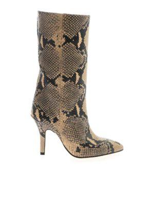 Paris Texas: boots - Snake print boot in beige