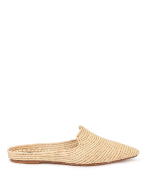 PATRIZIA PEPE: Loafers & Slippers - Raffia slippers
