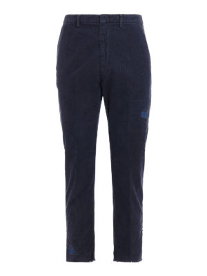 Pence: casual trousers - Denim patches corduroy trousers