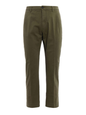 Pence: casual trousers - Efrem blue cropped chinos