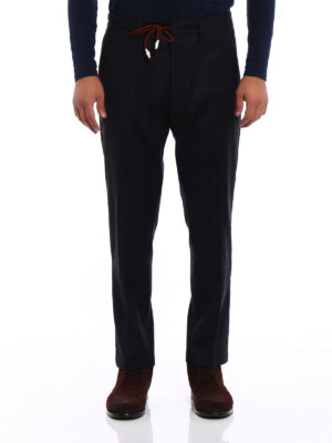 Pence: casual trousers online - Anthracite wool chinos