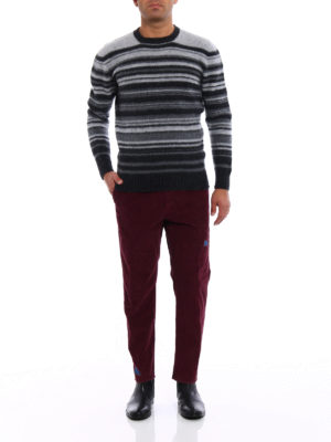 Pence: casual trousers online - Denim patches corduroy chinos