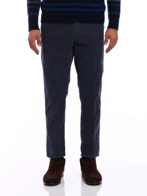 Pence: casual trousers online - Denim patches corduroy trousers