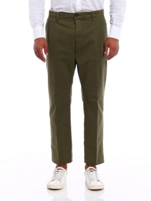 Pence: casual trousers online - Efrem blue cropped chinos