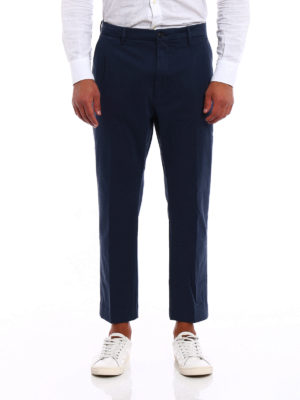 Pence: casual trousers online - Efrem green cropped chinos