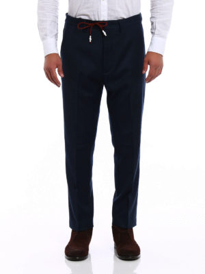 Pence: casual trousers online - Wool chinos with drawstring
