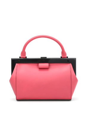 Perrin Paris: bowling bags - Le Bavolet leather bowling bag