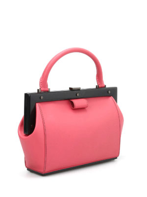 Perrin Paris: bowling bags online - Le Bavolet leather bowling bag