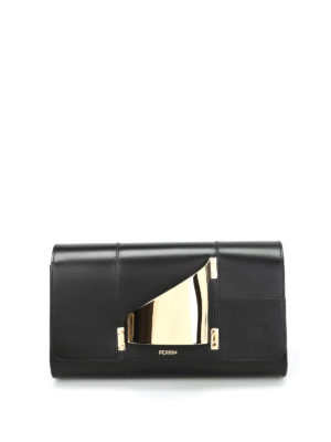 Perrin Paris: clutches - L'Eiffel leather clutch