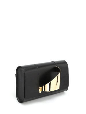 Perrin Paris: clutches online - L'Eiffel leather clutch