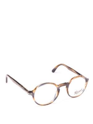 PERSOL: Occhiali - Occhiali Galleria 900 marroni striati