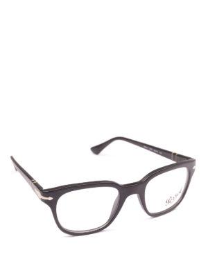 PERSOL: Occhiali - Occhiali da vista quadrati nero opaco