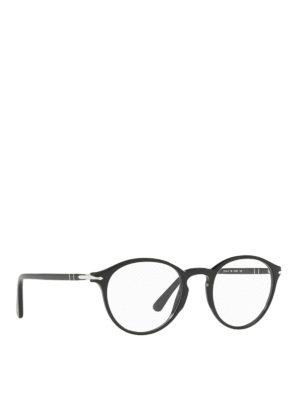 8df70fccd6 PERSOL  Occhiali - Occhiali da vista neri pantos. Persol. Panthos black  acetate optical glasses