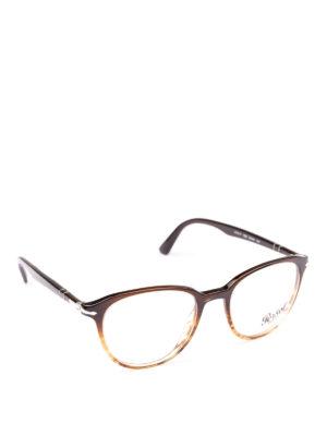 PERSOL: Occhiali - Occhiali da vista Token marroni striati