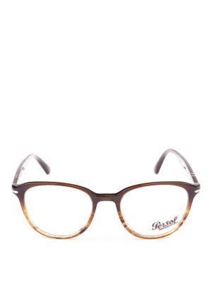 PERSOL: Occhiali online - Occhiali da vista Token marroni striati