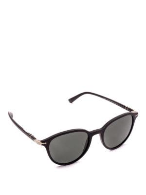 PERSOL: occhiali da sole - Occhiali neri montatura in acetato e metallo