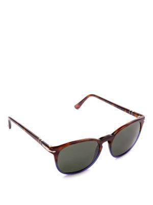 PERSOL: occhiali da sole - Occhiali squadrati con montatura bicolore