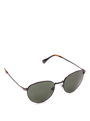PERSOL: occhiali da sole - Occhiali scuri con montatura ovale nera