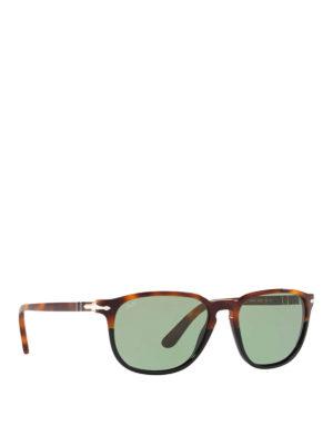 6c2431b191 Oval optical glasses. £ 193.00. PERSOL  occhiali da sole - Occhiali da sole  rettangolari con lenti verdi