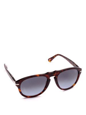 PERSOL: occhiali da sole - Occhiali aviator tortoise con lenti scure
