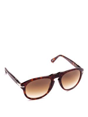 PERSOL: occhiali da sole - Occhiali aviator tortoise con lenti sfumate