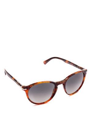 PERSOL: occhiali da sole - Occhiali scuri con montatura ovale tortoise
