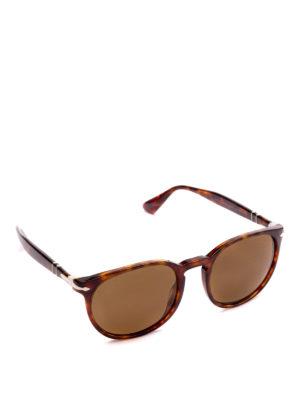 PERSOL: occhiali da sole - Occhiali montatura tortoise e lenti marroni