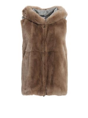 13b2074c896eca PESERICO: Pellicce e montoni - Gilet in lana con front in pelliccia