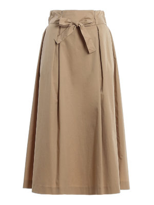 PESERICO: Knee length skirts & Midi - Cotton midi flared skirt
