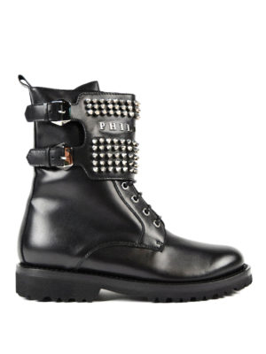 Philipp Plein: ankle boots - Clary studded leather booties