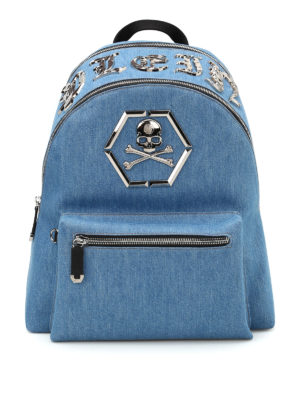 Philipp Plein: backpacks - Arue denim backpack