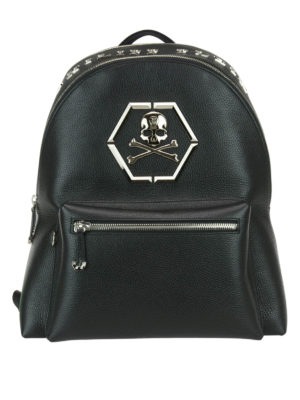 Philipp Plein: backpacks - Logan backpack with metal inserts