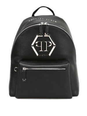 Philipp Plein: backpacks - Nicosia hammered leather backpack