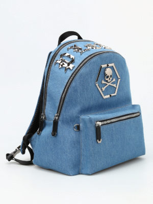 Philipp Plein: backpacks online - Arue denim backpack