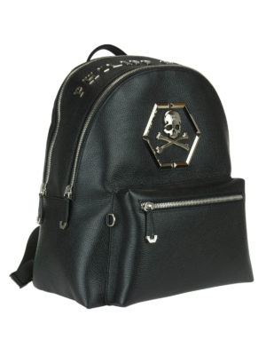 Philipp Plein: backpacks online - Logan backpack with metal inserts