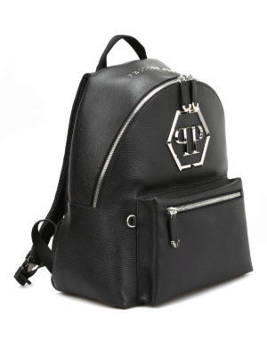 Philipp Plein: backpacks online - Nicosia hammered leather backpack