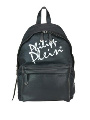 PHILIPP PLEIN: zaini - Zaino Signature in nylon e eco pelle