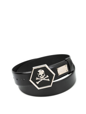 Philipp Plein: belts - Ayer leather belt