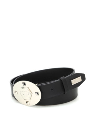 Philipp Plein: belts - Luis One monogram plaque belt