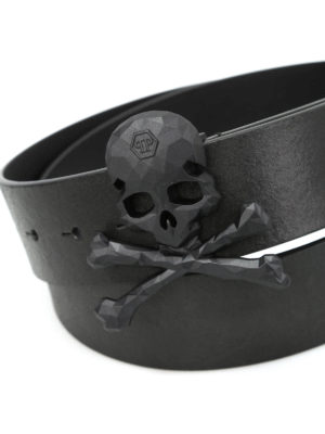 Philipp Plein: belts online - Andover-1 vintage leather belt