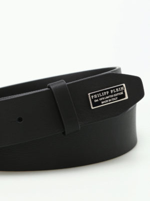 Philipp Plein: belts online - Luis One monogram plaque belt