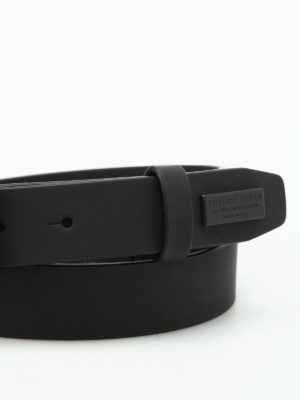 Philipp Plein: belts online - Rich Two matte leather belt