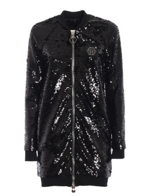 PHILIPP PLEIN: giacche bomber - Bomber Firefly in paillettes