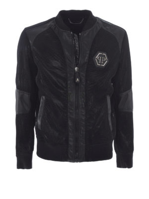 Philipp Plein: bombers - Logo detailed bomber jacket