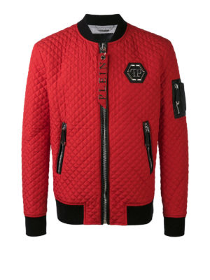 Philipp Plein: bombers - Okyo quilted bomber