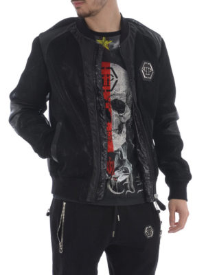 Philipp Plein: bombers online - Logo detailed bomber jacket