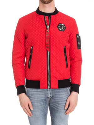 Philipp Plein: bombers online - Okyo quilted bomber